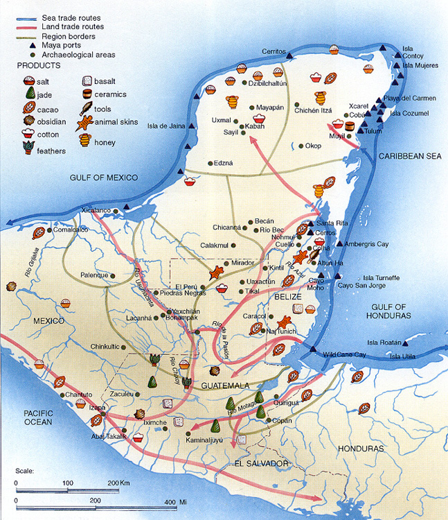 Maya Trade Map