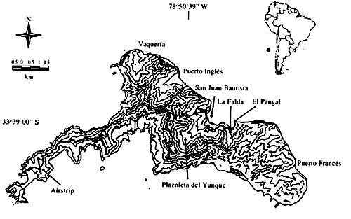 Map of Robinson Crusoe Island